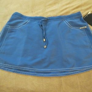 NWT ANNE COLE COLLECTION SLATE BLUE SWIM SKIRT L